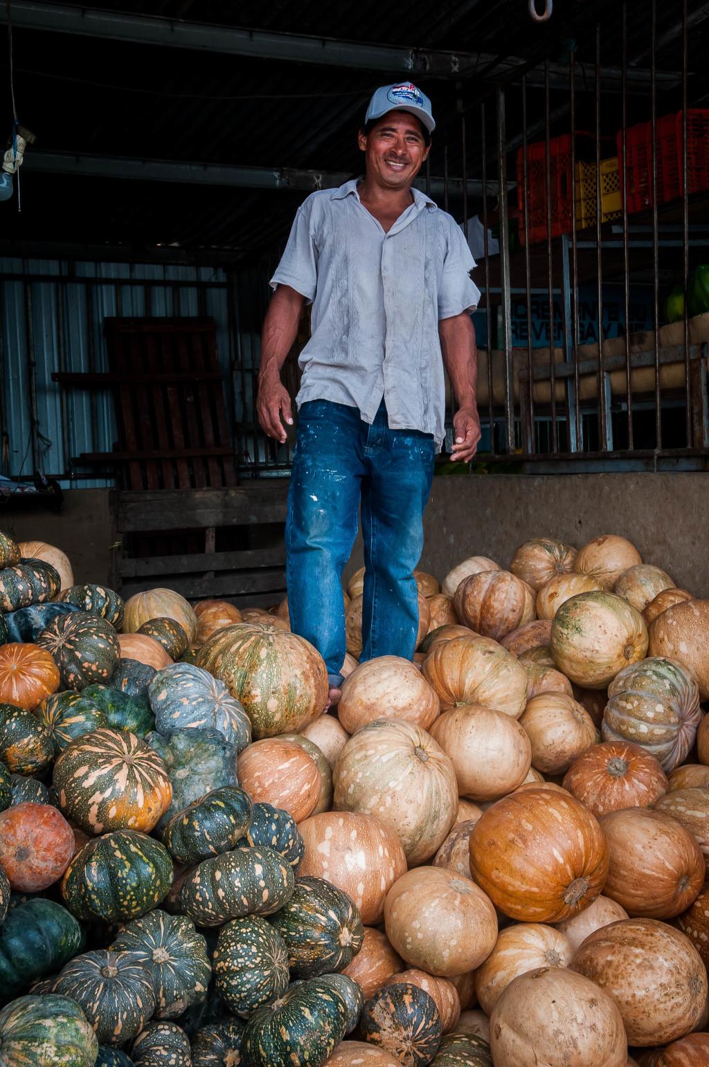 Zapallos en Mercado de Abastos Panama