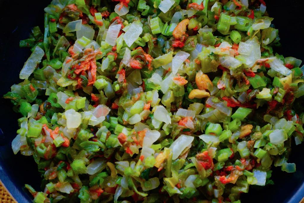 Flor de calabaza salteada zoom