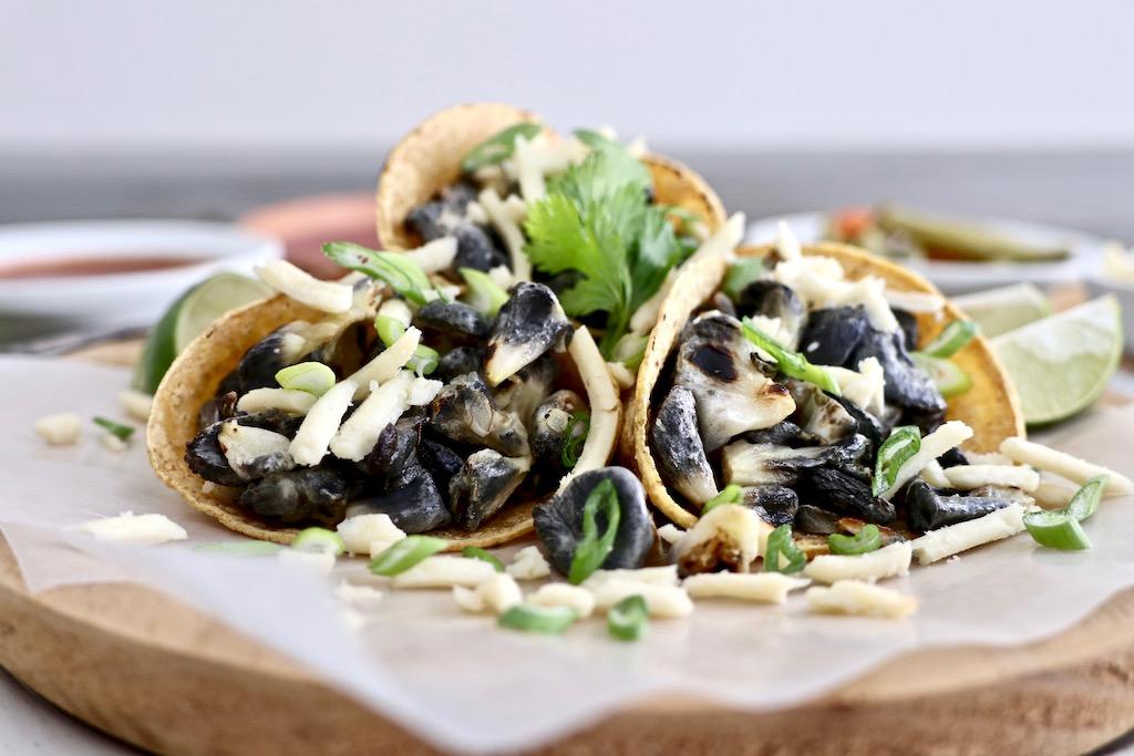 Huitlacoche en tacos