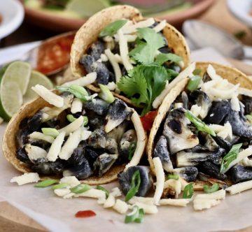 Huitlacoches en tacos